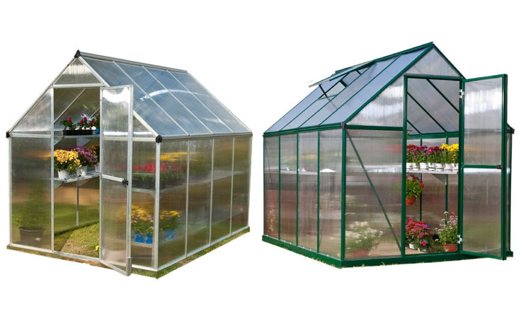 Nature Greenhouse Silver 6'x8' by Poly-Tex